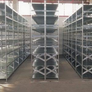 מדפים מודולרים למחסן